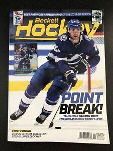 New November 2020 Beckett Hockey Card Price Guide Magazine---Brayden Point