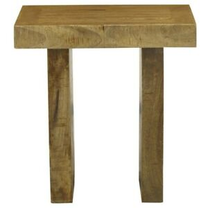 Square Rustic Reclaimed Wood Planks End Side Accent Table Natural(MADE TO ORDER)