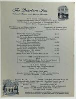 1970 Original Menu THE DEARBORN INN Colonial Homes & Motor House Michigan