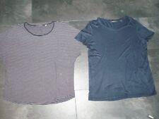 CHRISTIAN BERG T-Shirt blau gestreift Gr. 46 + ESPRIT T-Shirt dunkelblau Gr. XL