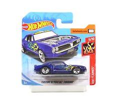Hot Wheels Flames 2018, Custom Pontiac Firebird 1967 blau 1/64