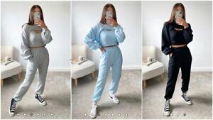 3Pcs Lounge Set Womens Boxy Fleece Loungewear Tracksuit Sports Jogging Top Pant