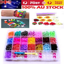 NEW Rainbow Loom Refills Bands Case kit 4400 Bands Board Loom Hooks Clips Charms