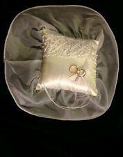 Square Ring Bearer Pillow Sheer Trim