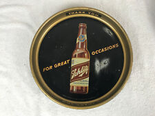 "Original Advertising Schlitz ""Beer That Made Milwaukee Famous"" Tin Serving Tray"