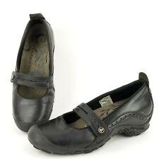 Merrell Plaza Bandeau Mary Jane Mocs Womens Size 7 M Black Leather Slip-On Flats