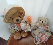 Bearly People Bear Stuffed Floral Accents and Wedding Bear Decoration Set