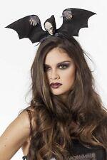 Kopfbügel - Totenkopf mit Flügel Fledermaushaarreif Halloween Karneval Fasching
