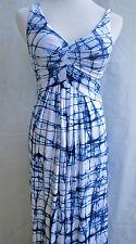 Tart Dress XS  Sleeveless Emprire Maxi Blue White NWT