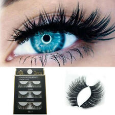 3 Pair Luxury 3D False Lashes Fluffy Strip Eyelashes Long Natural Party Beauty