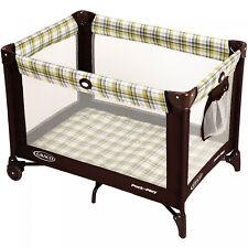 Portable Baby Kids Playard Push-Button Fold System Wheeled Durable Frame Ashford