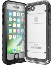 "Pelican Marine IP68 Waterproof Military Case for iPhone 7 8 4.7"" - Clear Black"