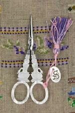 """French Sajou Scissors Mother of Pearl  Style """"Swan"""" embroidery scissors"""