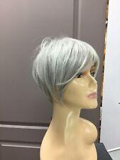 Hairdo ANGLED CUT HD Short Asymmetrical Pixie Wig, 56/60 Light Grey, Silver Mist