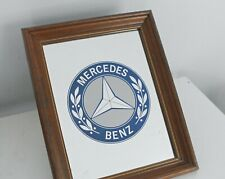 Vintage Mercedes Benz Mirror For Man Cave Decor Automotive Advertising Mirror