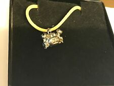 """Crab TG153 English Pewter On 18"""" Yellow Cord Necklace"""