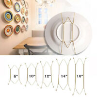 "1Pc W Type 8"" to 16"" Hook Wall Display Plate Dish Hanger Holder Home Decor New"