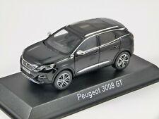 PEUGEOT 3008 GT in Black 1/43 scale model by Norev