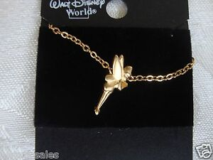 Disney Necklace Tinker Bell WDW Golden Tinkerbell New FREE SHIPPING