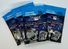 2 Packs 2018 Topps Baseball MLB Sticker Collection Value Pack 45 Cards