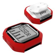 TUFF LUV Garmin Edge 20 / 25 Silicone case and screen protection - Red