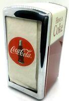Vintage Coca Cola Napkin Dispenser Metal 1992 Red Silver Ivory