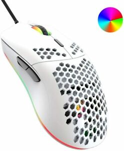Wired Gaming Mouse Honeycomb Shell Lightweight 6400 DPI Programmable Gaming Mice
