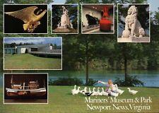 Mariners' Museum & Park Newport News Virginia, Ship Model Lion Statue - Postcard