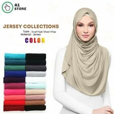 All Weathers Jersey Scarf Hijab Plain Large Soft Maxi Stretchy Shawl Wrap