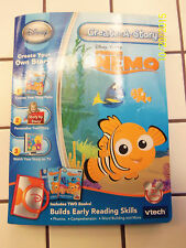 VTECH CREAT A STORY DISNEY PIXAR FINDING NEMO 2 BOOKS AND CART EDUCATIONAL NEW