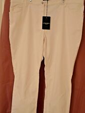 $185, NWT, Marina Rinaldi white stretch jeans in size 24W/33.