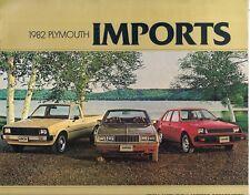 Plymouth Champ Sapporo Arrow 1982 USA Market Sales Brochure Mitsubishi Mirage