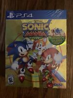 New Sonic Mania Plus PS4 Includes Art Book & Sega Genesis Cover Fast Shipping