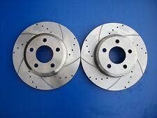 Ford Falcon BA-BF Front Disc Rotors Slotted & Drilled XR6 XR8 + FREE BRAKE PADS