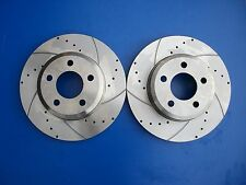 Ford Falcon BA BF Front Disc Rotors Slotted & Drilled XR6 XR8