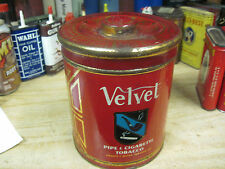 VELVET TOBACCO TIN CAN CANSITER united states LIGGETT MYERS VINTAGE