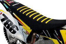Suzuki RMZ450 2008-2017 Enjoy black/yellow ribbed gripper seat cover EJ1006