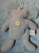 Woof & Poof Plush Blue Tooth Fairy Bunny w/ Wings Pocket Bean Bag Stuffed Toy