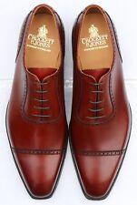 BNIB Crockett & Jones Westbourne Oxford Brogues Chestnut Brown Shoes 11 UK 45 EU