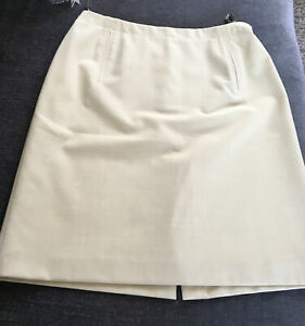 """NWT RRP WAS 49.95 CLAIRE DK CREAM FULLY LINED LOVELY QUALITY SKIRT 32""""WAIST"""