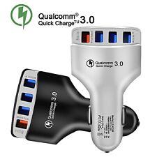 Cargador rápido rápido de 2/4 Puertos Hub Usb Cargador De Coche Adaptador de enchufe rápido qual LED