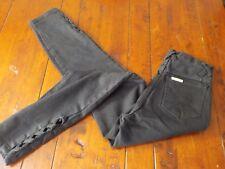 NWT Pure JeansWear High Waist Black Jeans sz 7 Taper MOM 24x27 Hong Kong VTG NEW