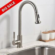 Best Commercial Stainless Steel Single Handle Pull Out Sprayer Kitchen Faucet,