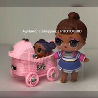 LOL Surprise Doll Custom Bling Pink Stroller - Accessory Big Lil Sister Pets NEW