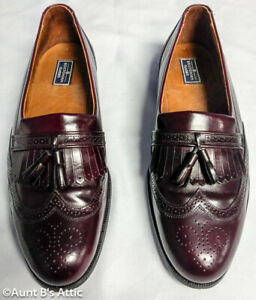 Shoes Men's Bostonian Classics Red Leather Oxford Tasseled Loafer 11 1/2 M