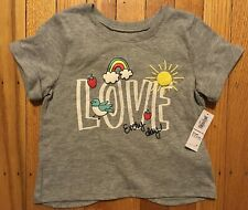 Nwt Girl's Old Navy Gray Shirt w/ Love Every Day - Sizes 6-12 thru 18-24 Months