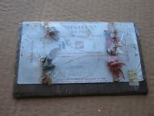 Vintage Fishing Western Dry Flies Matched Divided Wings Nautical Decor