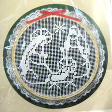 The Creative Circle Holy Family Needlecraft Kit Net Darning includes Hoop Vtg