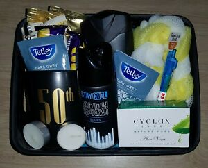 MENS 50TH BIRTHDAY GIFT HAMPER SELF CARE PACKAGE BOX DAD BROTHER HUSBAND UNCLE