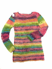 TRICOT FAIT MAIN - PULL MANCHES LONGUES MULTICOLORE - TAILLE 4 ANS